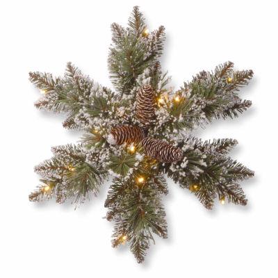 National Tree Co. Glittery Bristle Pine Holiday Yard Art
