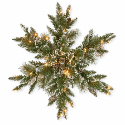 National Tree Co. Glittery Bristle Pine Christmas Holiday Yard Art