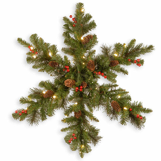 National Tree Co. Crestwood Spruce Snowflake Holiday Yard Art