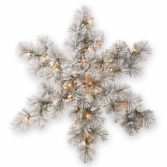 National Tree Co. Bristle Pine Snowflake Christmas Holiday Yard Art