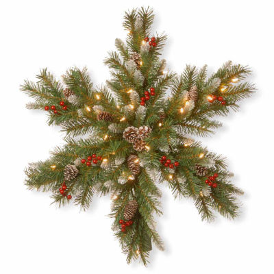 National Tree Co. Frosted Berry Snowflake Christmas Holiday Yard Art