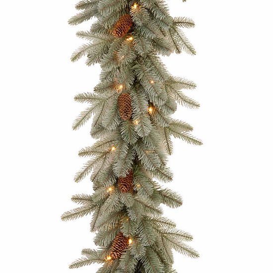 National Tree Co. Frosted Artic Spruce Feel Real Indoor/Outdoor Christmas Garland