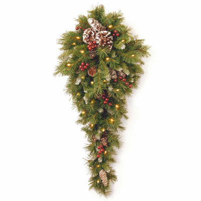 National Tree Co. Frosted Berry Teardrop Holiday Yard Art
