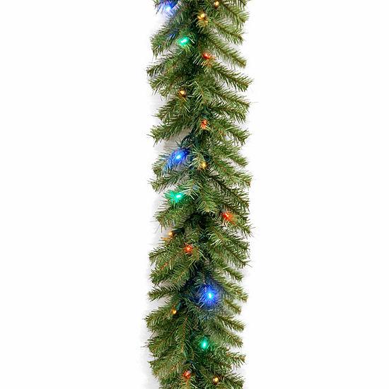 National Tree Co Norwood Fir Indoor Outdoor Christmas Garland