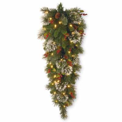 National Tree Co. Wintry Pine Teardrop Swag Holiday Yard Art