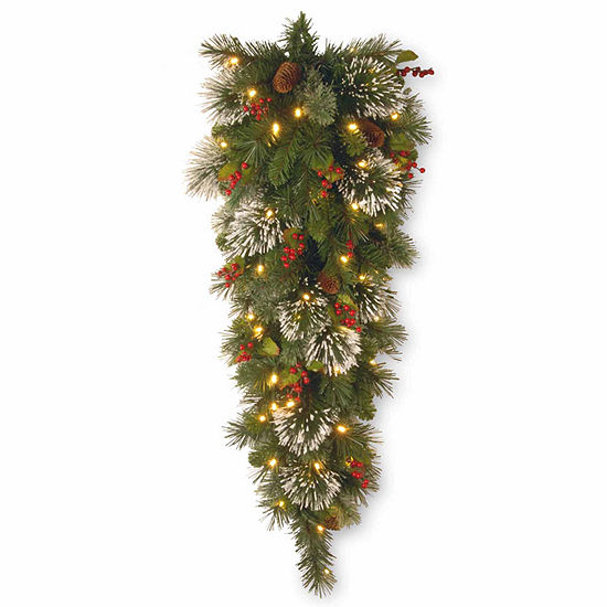 National Tree Co. Wintry Pine Teardrop Swag Christmas Holiday Yard Art