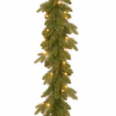 National Tree Co. Avalon Spruce Feel Real Indoor/Outdoor Christmas Garland
