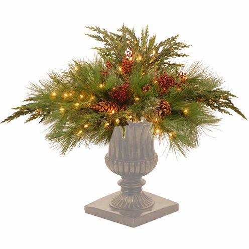 National Tree Co. White Pine Urn Filler Holiday Yard Art