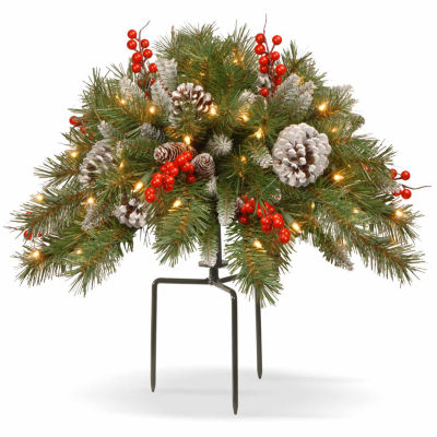 National Tree Co. Frosted Berry Urn Filler Holiday Yard Art