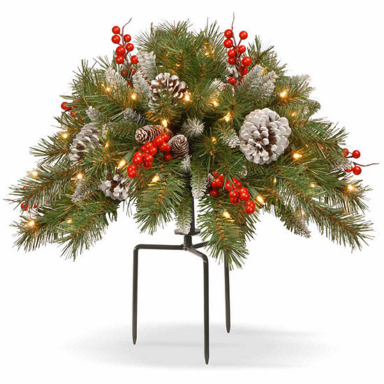 Christmas Tree Fillers.National Tree Co Frosted Berry Urn Filler Christmas Holiday Yard Art