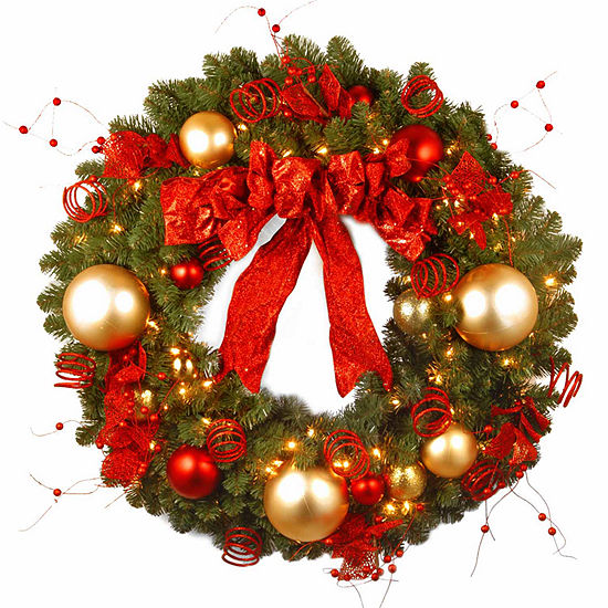 National Tree Co. Cozy Christmas Indoor/Outdoor Christmas Wreath
