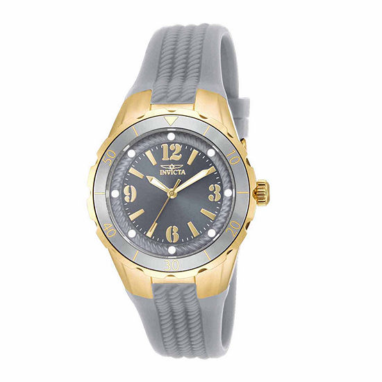 Invicta Angel Womens Gray Strap Watch-17483