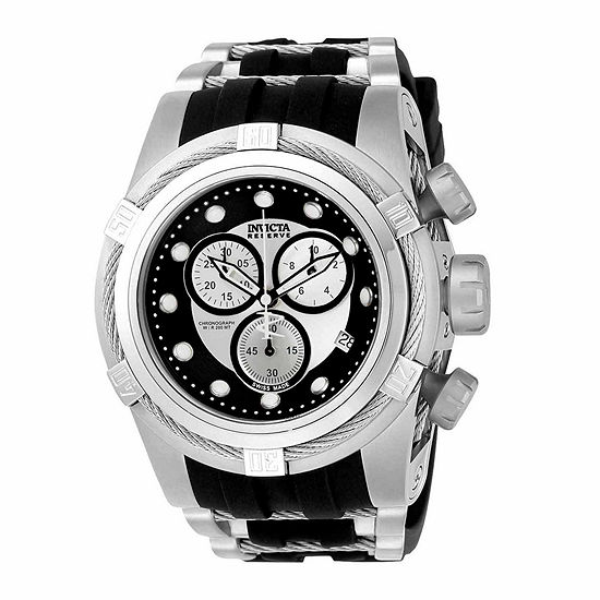 Invicta Reserve Bolt Zeus Mens Chronograph Black Stainless Steel Strap Watch-21808