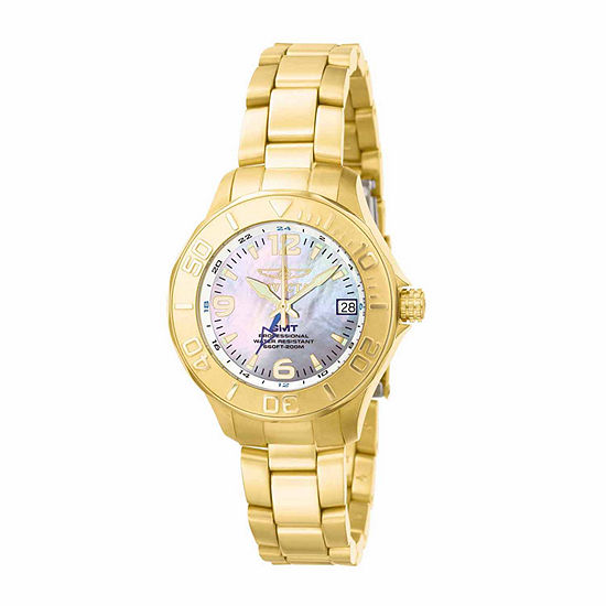 Invicta Pro Diver Womens Gold Tone Bracelet Watch-6891