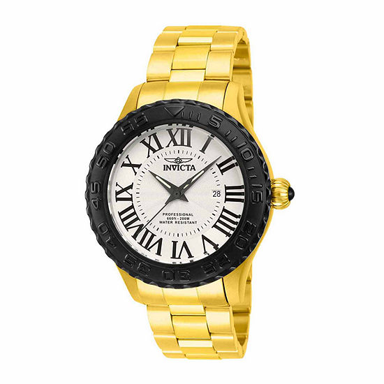 Invicta Pro Diver Mens Gold Tone Stainless Steel Bracelet Watch-14538