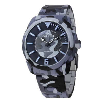 So & Co Mens Blue Bracelet Watch-Jp15040