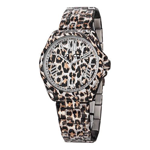 So & Co Womens Two Tone Bracelet Watch-Jp15044