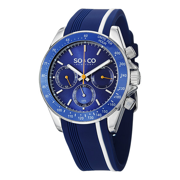 So & Co Mens Blue Strap Watch-Jp15087