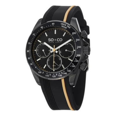 So & Co Mens Black Strap Watch-Jp15089