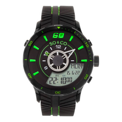 So & Co Mens Black Strap Watch-Jp15520