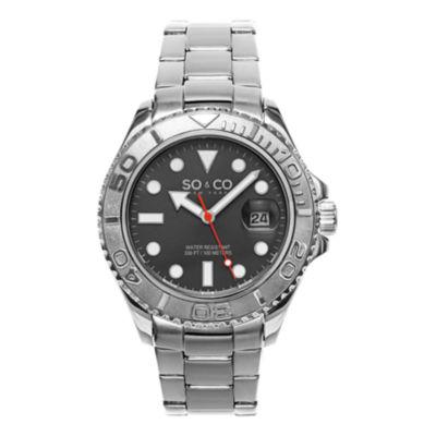 So & Co Mens Silver Tone Bracelet Watch-Jp15473