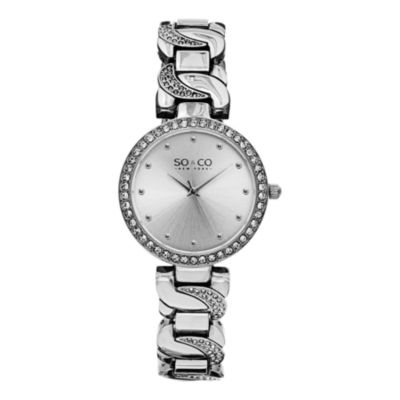 So & Co Womens Silver Tone Bracelet Watch-Jp15581
