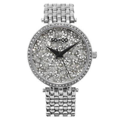 So & Co Womens Silver Tone Bracelet Watch-Jp15861