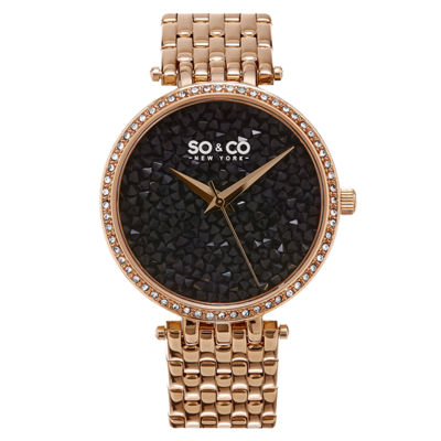 So & Co Womens Rose Goldtone Bracelet Watch-Jp15864