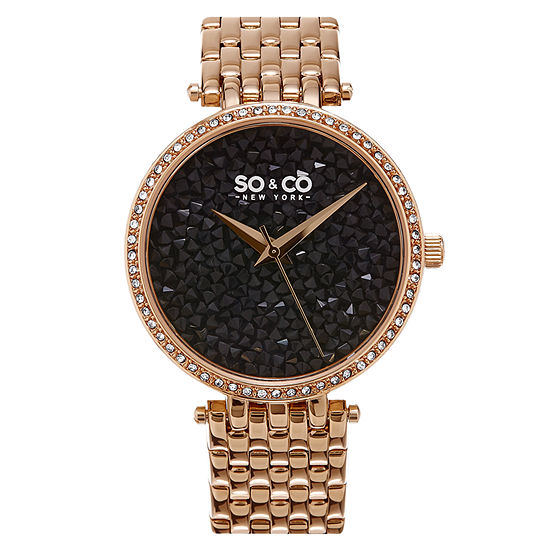 So & Co Womens Rose Goldtone Stainless Steel Bracelet Watch-Jp15864