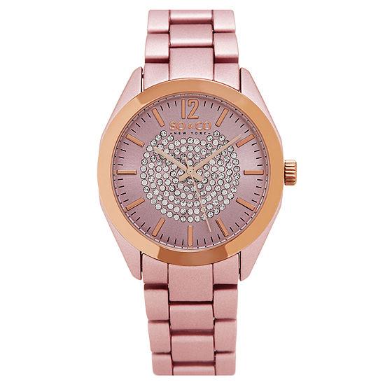 So Co Womens Pink Bracelet Watch Jp15893