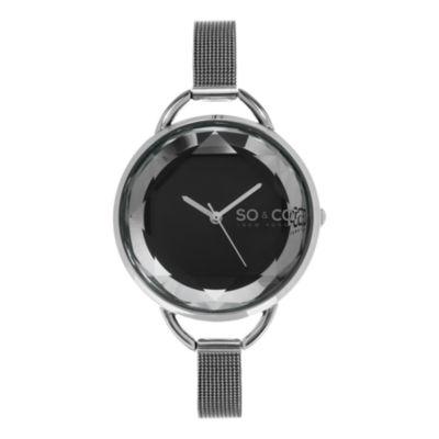 So & Co Womens Gray Bracelet Watch-Jp15791