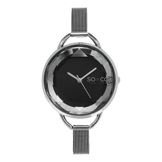 So & Co Womens Gray Stainless Steel Bracelet Watch-Jp15791