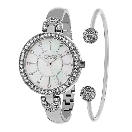 So & Co Womens Silver Tone Stainless Steel Bracelet Watch-Jp16296