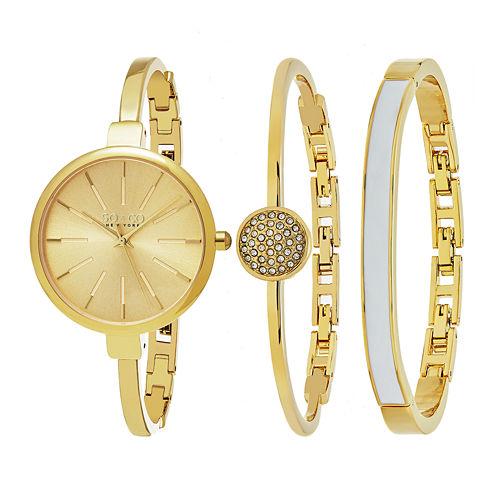 So & Co Womens Gold Tone Bracelet Watch-Jp16146