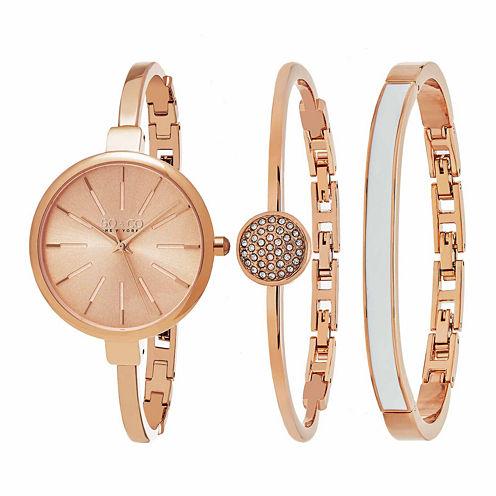 So & Co Womens Rose Goldtone Bracelet Watch-Jp16147