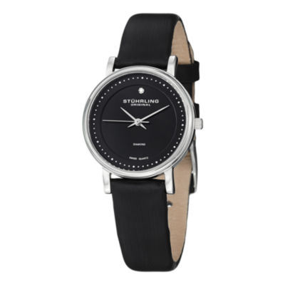 Stuhrling Womens Black Strap Watch-Sp13077