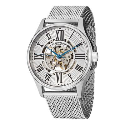 Stuhrling Mens Silver Tone Bracelet Watch-Sp13062