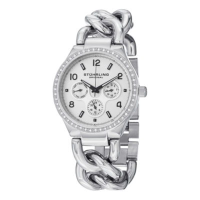 Stuhrling Womens Silver Tone Bracelet Watch-Sp14835