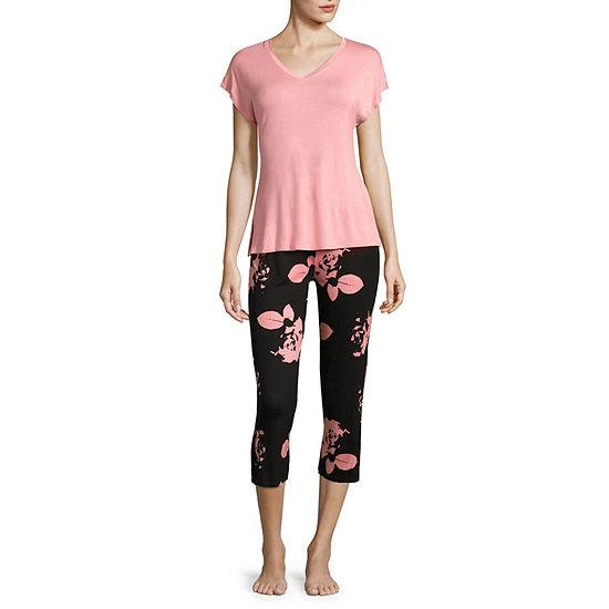 Ambrielle Womens Capri Pajama Set