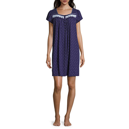 Adonna Woven Short Sleeve Nightgown