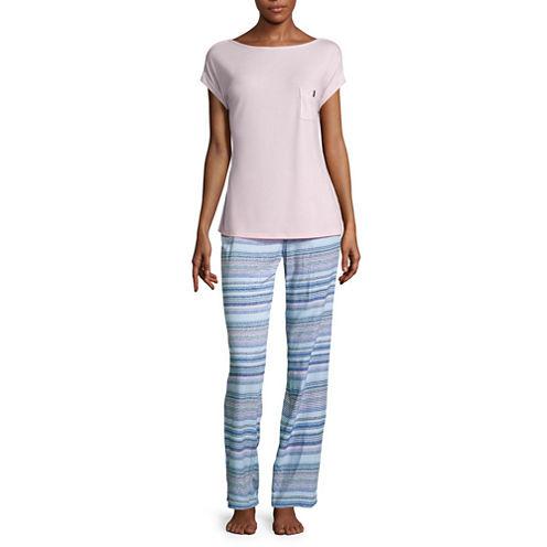 Liz Claiborne 2-pc. Stripe Pant Pajama Set