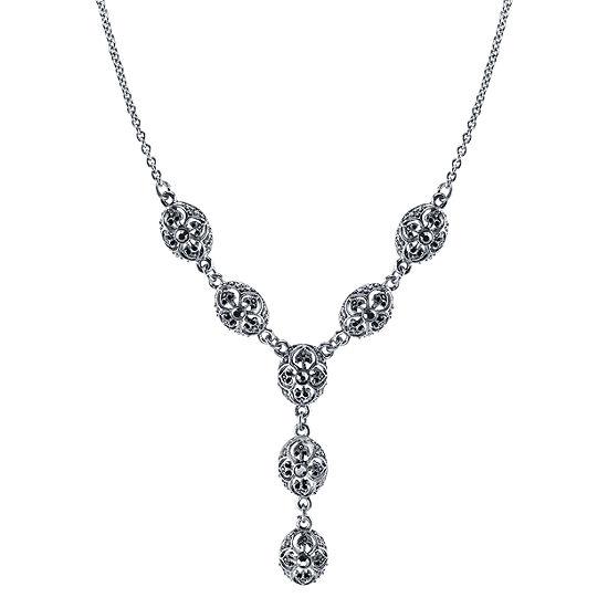 1928 Cameo Y Necklace