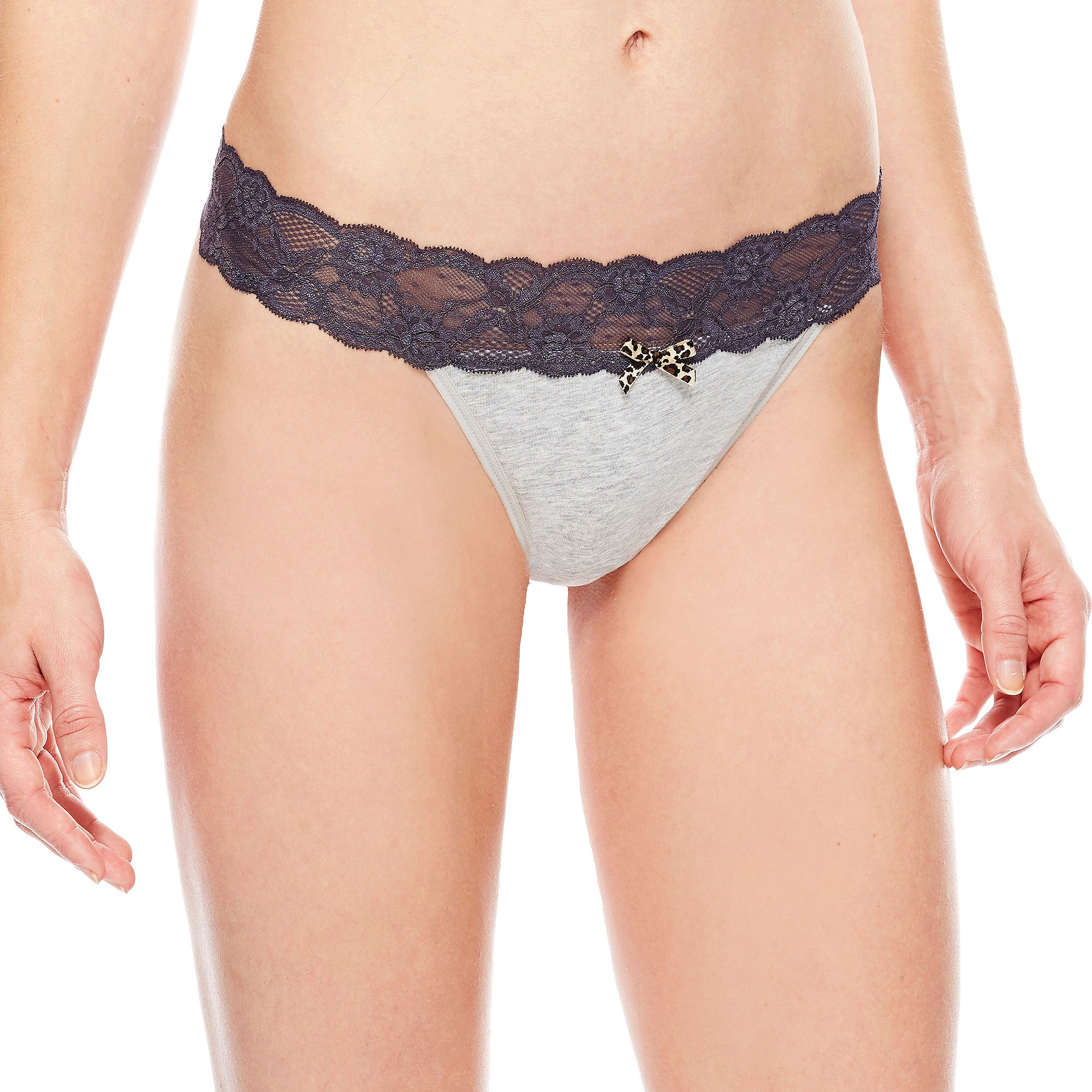 70eb3eb644a9 UPC 017911180059 product image for Ambrielle Lace-Trim Thong Panties |  upcitemdb.com