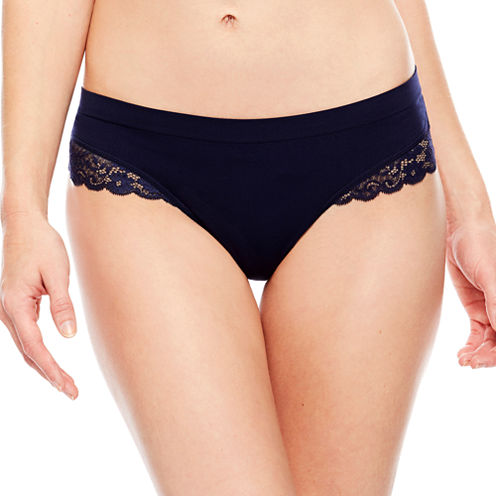 Ambrielle® Seamless Lace Thong Panties