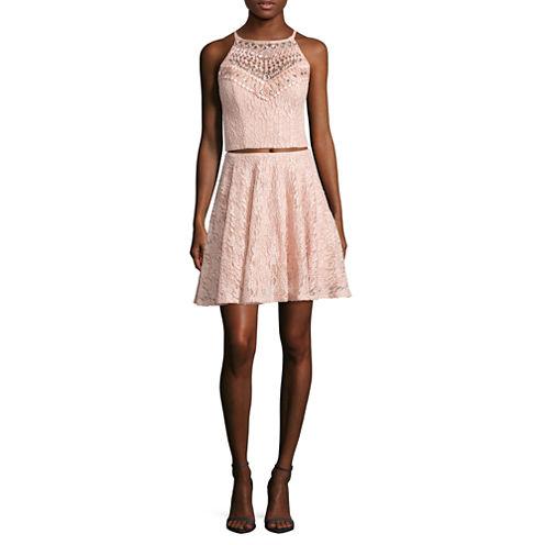 City Triangle Sleeveless Party Dress-Juniors
