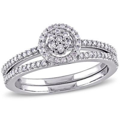 Womens 3/8 CT. T.W. White Diamond 10K Gold Bridal Set