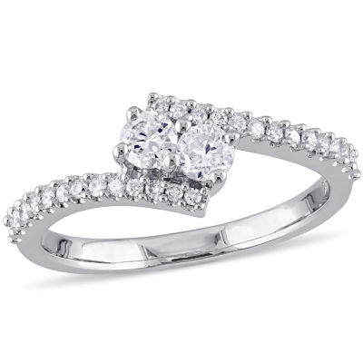 Womens 1/2 CT. T.W. Diamond 14K Gold Engagement Ring