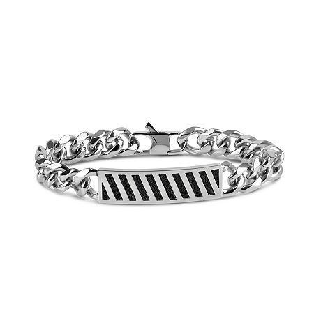 Stainless Steel Solid Id Bracelet, One Size