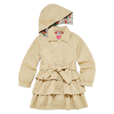 Pink Platinum Triple Tier Trench Raincoat 4-6x
