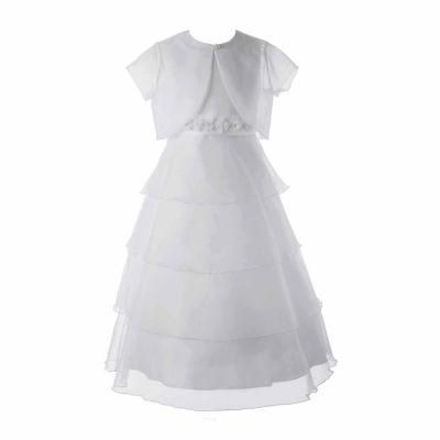 Keepsake Organza Communion Dress with Shrug - Girls 6X-14 and Plus